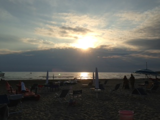 photo Silvia Telara: Tramonto in Versilia-Tonfano