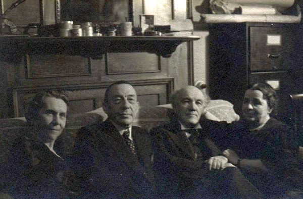 Medtner and Rachmaninof with wifes (1938)