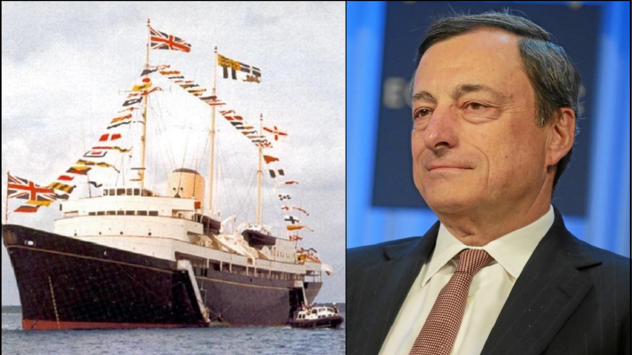 Il 2 giugno 1992, sul panfilo Britannia, Mario Draghi…