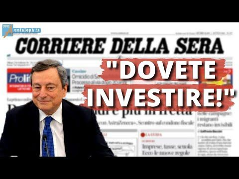 Mauro Scardovelli: Draghi ci dice di spendere