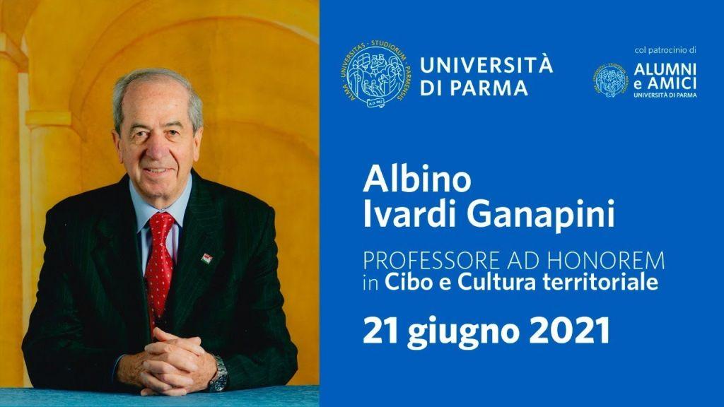 Albino Ivardi Ganapini Prof. ad Honorem – Aula Magna Università di Parma